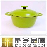 24cm Red Color Cast Iron Pot/Enameled Coated Cast Iron Cookware