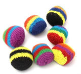 Customized Hand Knits Wool Ball Multicolor PVC Granular Children's Toys