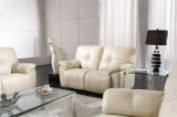 Genuine Leather Chaise Leather Sofa Electric Recliner Sofa (916)