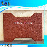 High Density Solid Color Horse Barn Rubber Brick