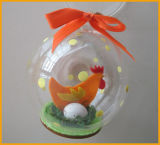 2016 New Design Christmas Glass Ball with Chicken