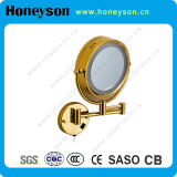 Gold LED Lighting Mirror for Hotel Bathroom Use