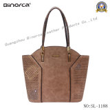 Embossing Puching and Hardware Decroration Fashion Lady Hand Bag