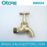 Brass Bibcock Polished Hosebib