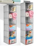 6 Shelvest Hanging Storage Closet Accessory Hanging Box Organizer for Clothing, Towels, Blankets, Toys, Diapers