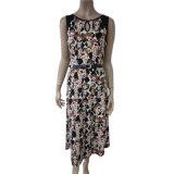 Women′s Aop Print Sleeveless Ity Dress