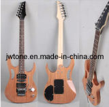 Natural Mahogany Body Quality Electric Guitar