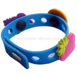 Hot Selling Manufacture PVC Wrist Band with Snap