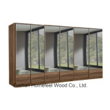 New 6 Doors Wooden Full Mirrored Wardrobe Dresser (WB16)