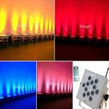 LED Flat DMX&Battery& Wireless Waterproof Kibetic Lighting 12 *15W RGBWA 5in1 LED PAR Light