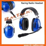 Motorcycle Blue Helmet Headset with Noise Cancelling & XLR Cable for Two Way Radio Walkie Talkie