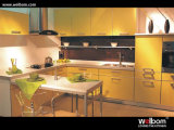 2015 Welbom Italian Style Classical Yellow Boxwood Kitchen Cabinet