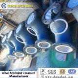 Aluminum Oxide Ceramic Lined Pipe Fittings with Chemical Resistance