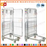 Stackable Folding Logistic Warehouse Storage Wire Roll Cage Container (Zhra64)