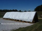 14′ X 52′ 16 Mil Polyethylene White/Silver Hay Tarp