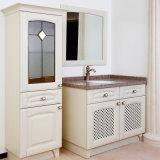 Welbom White Elegant High Gloss Modern Solid Wood Vanity Bathroom