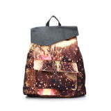 Starry Sky Fashion Women Ladies Canvas Backpack (MBNO036089)