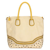 Beige Trend Fashion Lady Shopping Wholesale Hand Bags (MBLX033059)