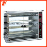 Gas Chicken Rotisserie Oven with 4 Row Burner