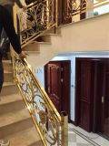 Luxury Gold Color 304 Stainless Steel Decoration Stairs Guardrail for Indoor Used