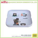 Food Grade 2 Sections Small Square Melamine Tray