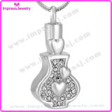 Cremation Jewelry Pendants Bottle Pendant with Crystals Ijd9646