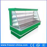 Supermarket Vegetables Display Cabinet Refrigerated Showcase