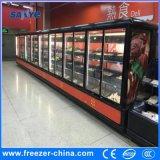 Supermarket Multideck Big Capacity Vertical Glass Door Display Refrigerator
