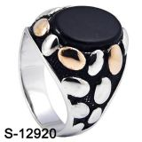 Genuine 925 Sterling Silver Jewelry Ring with Agate
