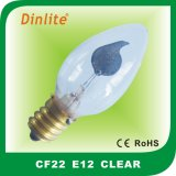 C22 E12/E14 clear incandescent bulb