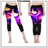 Wholesale Customized Printed Pattern Women Sportswear Capri Yoga Pants