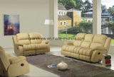 Popular Style 3 PCS Reclining Motion Sofa Loveseat Recliner Leather -Beige
