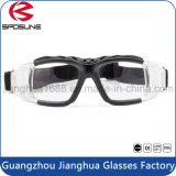 Premium Black Frame Clear Lens Paintball Glasses Protective Balistic Basket Soccer Shooting with Anti Slip Strap Goggle