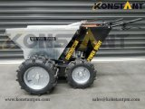 E Start Engine Mini Dumper with Double Front Wheel and Hot DIP Galvanzing Bucket