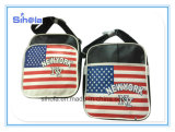 PU Leather Soft USA Flag Design Leisure Bag