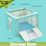 Non Woven Cloth Collapsible Fabric Storage Box with Square Chest