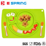 BPA Free Cute Snail Design Eco-Friendly Silicone Baby Plate Placemat