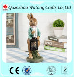Custom Garden Decoration Animal Resin Rabbit Statues with Light