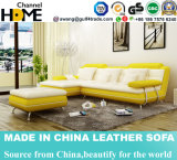 Fashion Yellow and White Leather Sofa for Home Living Room (HC1081)