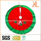 Quality Christmas Decoration All Velvet Embroidery/Applique Round Tree Skirt