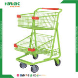 Supermarket Double Layer Basket Shopping Cart