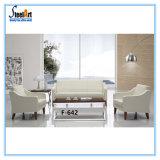 Office Furniture Simple White Sofa Set Design (KBF F642)