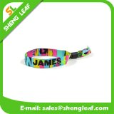 Fabric Festival Woven Wristband with Bead Closure
