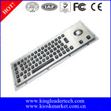 Backlight Vandal Proof Metal Keyboard with Trackball