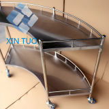 Hospital Medical Steel-Plastic Storage Carts Crossing Trolley