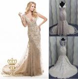 Beading Embroidery Wedding Dress, Heavy Beaded Party Dress