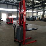 Semi Electric Hydraulic Stacker with High Performance