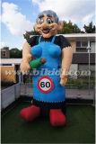 Inflatable Standing Sarah Cartoon, Woman Character Inflatable Ballloon K9042