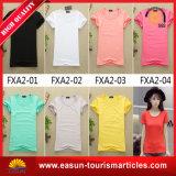 V Neck Simple Design White T-Shirt for Girls