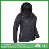 Black Womens 3 in 1 Waterproof Jacket